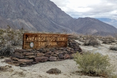 Anza-borrego state park main sign