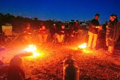 Quartzsite Convergence 2017 Xscapers nightly fire