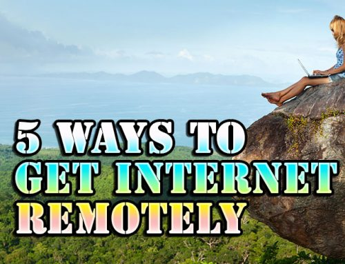 5 ways to get internet when you are living in an RV