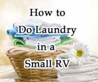 How To Do Laundry in a Small RV?